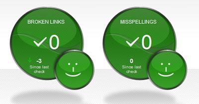 Zero broken links and misspellings