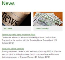 News section of website