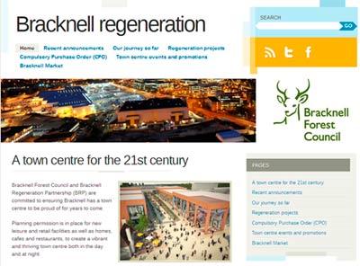 Bracknell regeneration site